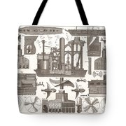 1850 Construction Of Steam Ship Tote Bag