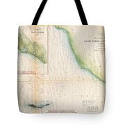 1857  Coast Survey Map Of The Eastern Entrance To Santa Barbara Channel Tote Bag