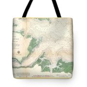 1857 U.s. Coast Survey Map Or Chart Of The Entrance To The York River, Virginia Tote Bag