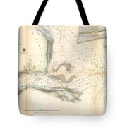 1857 U.s. Coast Survey Map Or Chart Of The Mouth Of St. Johns River, Florida Tote Bag