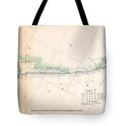 1857 U.s. Coast Survey Triangulation Map Of Matagorda Bay To Galveston Bay, Texas Tote Bag