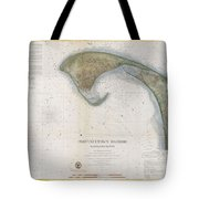1857 U.s.c.s. Map Of Provincetown Harbor, Cape Cod, Massachusetts Tote Bag