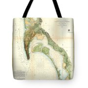 1857 U.s.c.s. Map Of San Diego Bay, California Tote Bag