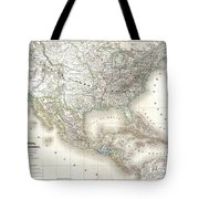1858 Dufour Map Of The United States  Tote Bag