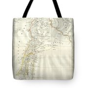 1859 Alabern Map Of Israel, Palestine, Or Holy Land And Syria In Ancient Times Tote Bag