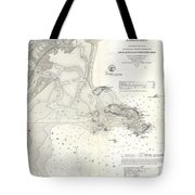 1859 U.s. Coast Survey Map Of Lynn Harbor, Massachusetts Tote Bag