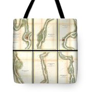 1865 Us Coast Survey Map Of The Mississippi River From Cairo Il To St Marys Mo  Tote Bag