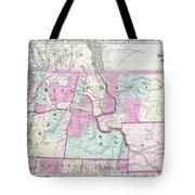 1866 Colton Map Of Oregon Washington Idaho And Montana W Wyoming Tote Bag