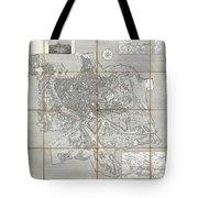 1866 Fornari Pocket Map Or Case Map Of Rome Italy Tote Bag