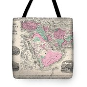 1866 Johnson Map Of Arabia Persia Turkey And Afghanistan Iraq Tote Bag