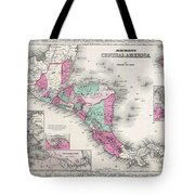 1866 Johnson Map Of Central America Tote Bag