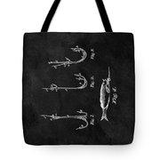 1867 Fishing Lure Patent Tote Bag