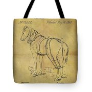 1868 Horse Harness Patent Tote Bag