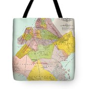 1869 King County Map Tote Bag