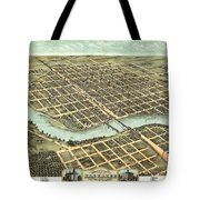 1869 Map Of Kankakee Tote Bag