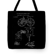 1871 Hand Carriage Patent Drawing Tote Bag