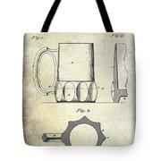 1873 Beer Mug Patent Tote Bag