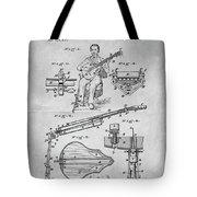 1873 Guitar Patent Blueprint Tote Bag