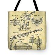 1873 Guitar Patent Tote Bag