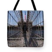 1875 Brooklyn Bridge Tower Color  Tote Bag