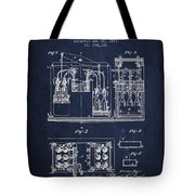 1877 Bottling Machine Patent - Navy Blue Tote Bag