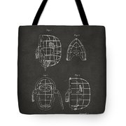 1878 Baseball Catchers Mask Patent - Gray Tote Bag by Nikki Marie Smith