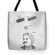 1879 Mustache Guard Patent Tote Bag