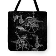1882 Sulky Plow Patent Tote Bag