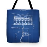 1884 Bottling Machine Patent - Blueprint Tote Bag