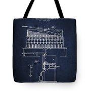 1884 Bottling Machine Patent - Navy Blue Tote Bag
