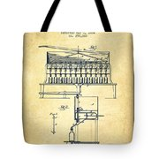 1884 Bottling Machine Patent - Vintage Tote Bag