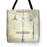 1884 Corkscrew Patent Tote Bag