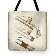 1885 Fire Escape Patent - Vintage Brown Tote Bag