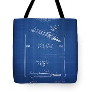 1885 Tuning Fork Patent - Blueprint Tote Bag