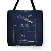 1885 Tuning Fork Patent - Navy Blue Tote Bag