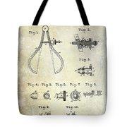 1886 Caliper And Dividers Patent Tote Bag