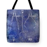 1886 Calipers Patent Blue Tote Bag