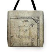1887 Baseball Game Patent Tote Bag