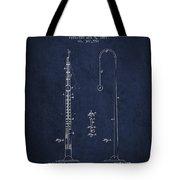 1887 Metronome Patent - Navy Blue Tote Bag