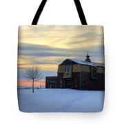 1888 Barn In Winter 02 Tote Bag