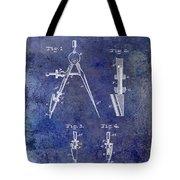 1888 Draftsmans Compass Patent Blue Tote Bag