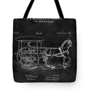 1888 Horse Drawn Carriage Tote Bag