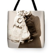 1888 Infant And Mother Tote Bag by Tom Zukauskas