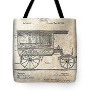 1889 Ambulance Patent Tote Bag
