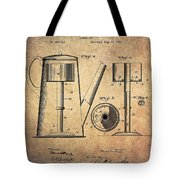 1889 Coffee Maker Patent Tote Bag