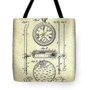 1889 Stop Watch Patent Art S. 1 Tote Bag