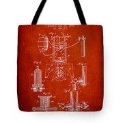 1890 Bottling Machine Patent - Red Tote Bag