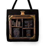 1890 Ink Stamps For Letters Tote Bag