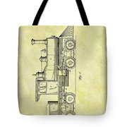 1891 Locomotive Patent Tote Bag