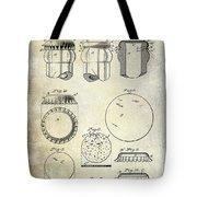1892 Bottle Cap Patent  Tote Bag